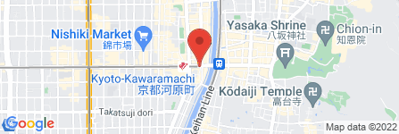 地図 ベジテジや 四条木屋町店