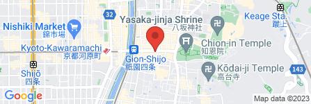地図 京都祇園萩月