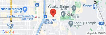 地図 菓匠 清閑院 祇園本店