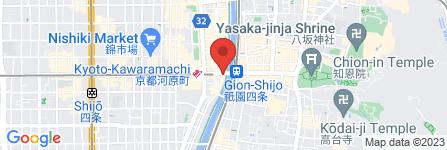 地図 ドトールコーヒーショップ 京都四条大橋店