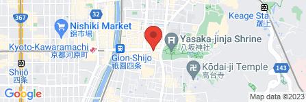 地図 スターバックスコーヒー アパホテル京都祇園EXELLENT店