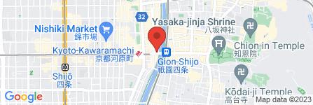 地図 寛永堂 四条本店
