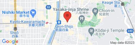 地図 RAAK 祇園切通し店