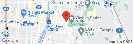 地図 志津屋 祇園店