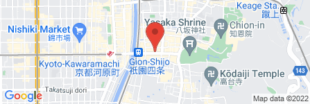 地図 京都あぶらとり紙象祇園店