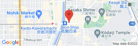 地図 おはぎの丹波屋 四条南座前店