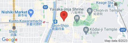 地図 おうすの里祇園本店