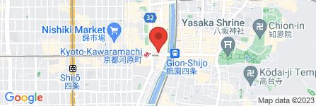 地図 ステーキハウス 听 河原町店