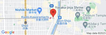 地図 スイーツパラダイス 四条河原町店