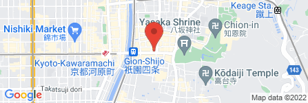 地図 鍵善良房 本店