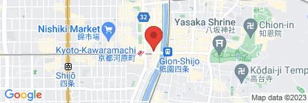 地図 えこひいき 四条木屋町店