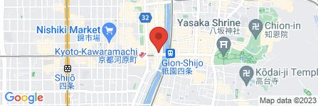 地図 廻転寿司 CHOJIRO  四条木屋町店