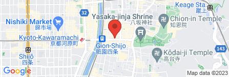 地図 大安 祇園店