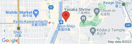 地図 永楽屋細辻伊兵衛商店 祇園店