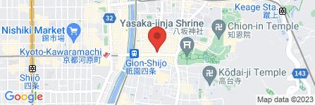 地図 よーじやカフェ祗園店
