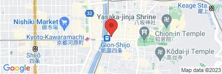 地図 京都着物レンタル京なでしこ