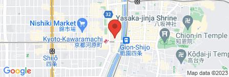 地図 鳥せゑ 木屋町店
