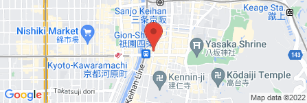 地図 GION BAR Rigel
