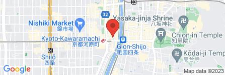 地図 亀屋鶴八 四条木屋町店