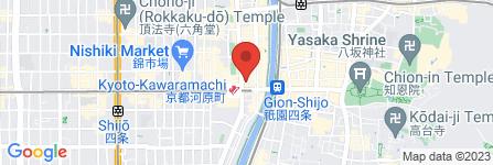 地図 ほっとけや 四条河原町店