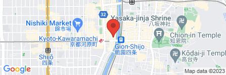 地図 ファミリーマート四条木屋町北店