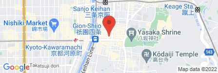 地図 祇園 天ぷら割烹  はせがわ