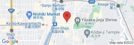 地図 麺屋 愛都 祇園店