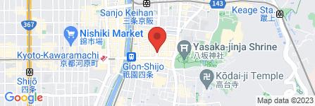 地図 珉珉 祇園店