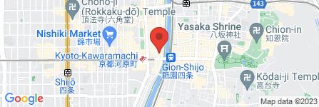 地図 響の庭 木屋町店