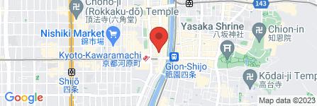 地図 bar moon walk 四条木屋町店