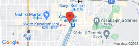 地図 ワインと炭火焼き 先斗町 隠家