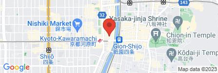 地図 味の天徳 京都四条木屋町店