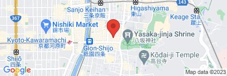 地図 祇園 鉄板焼 よし川