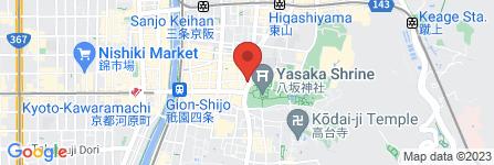 地図 肉割烹バル 牛牛 GYUGYU 祇園本店