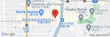 地図 カラオケ館 四条河原町本店