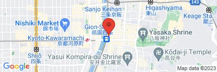 地図 井筒八ツ橋本舗 祇園本店