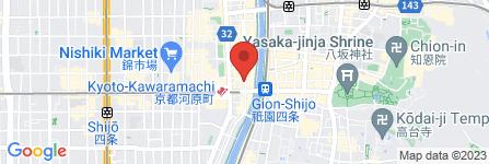 地図 京の焼肉処 弘 四条木屋町店