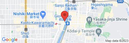 地図 麺処むらじ 先斗町店