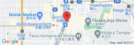 地図 京料理 井筒