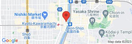 地図 株式会社うるしの常三郎 先斗町店