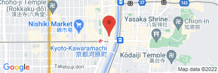 地図 ORIENTAL LOUNGE BIT KYOTO