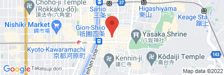 地図 遊亀 祇園店