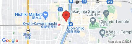 地図 CLUB MOET  京都