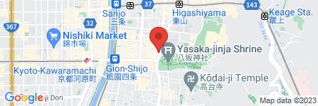 地図 京めん祇園店