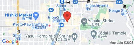 地図 CLUB ミュゼルバ祇園