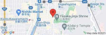 地図 コロラドコーヒーショップ 祇園店