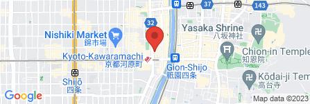地図 リンガーハット 京都四条河原町店