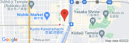 地図 CONA 四条河原町店