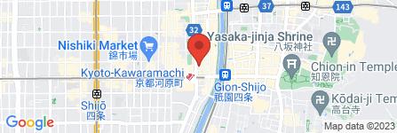 地図 京の手【みやこのて】~ボディケアボディ四条河原町店~