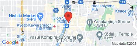 地図 うずら屋 京都 四条